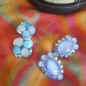 Vintage clip on earrings from the 60s